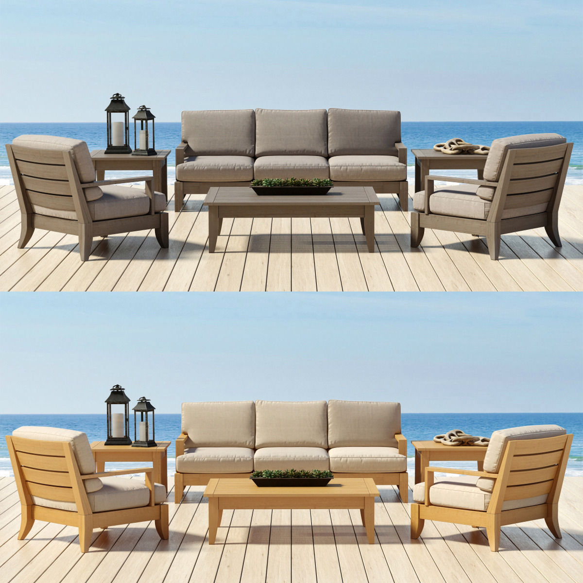 restoration hardware santa barbara collection 3d model max obj fbx - Garden Furniture 3d Model