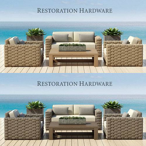 Restoration Hardware Sofa Collection: RUTHERFORD COLLECTION 3D Model MAX
