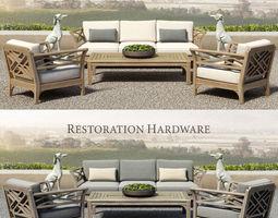 restoration hardware - kingston collection 3d model