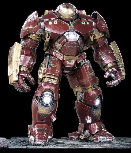 iron man mark 44 - hulkbuster armor 3d model rigged max fbx 1