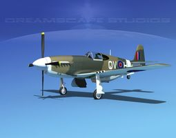 3D North American Mustang X RAF V01