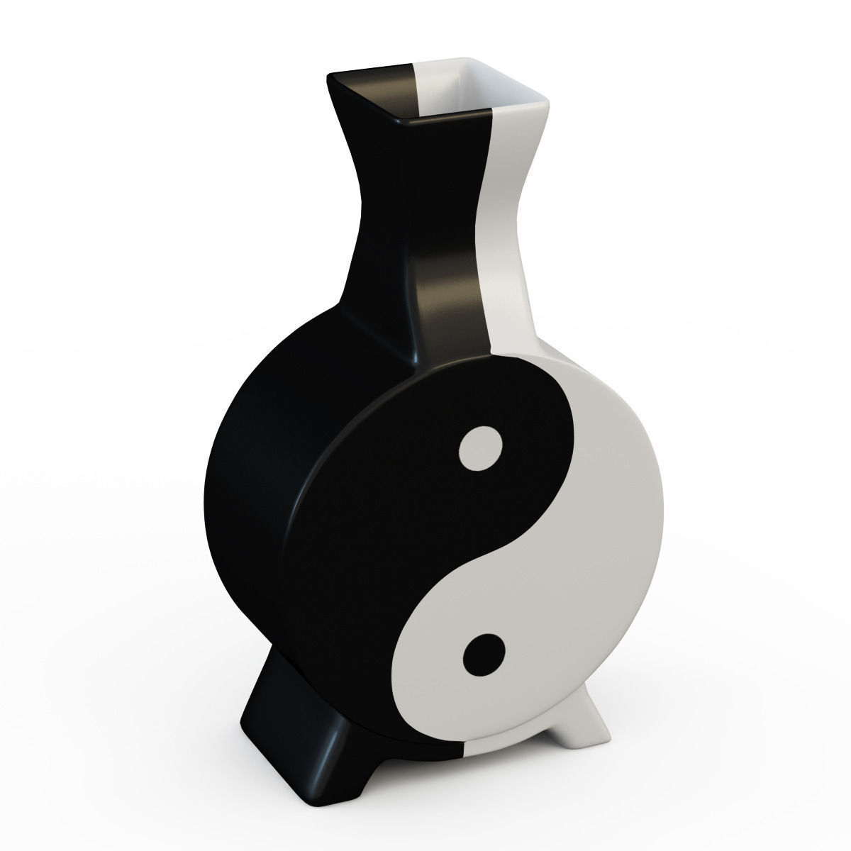 Vase yin yang 3d model max for Decoration murale yin yang