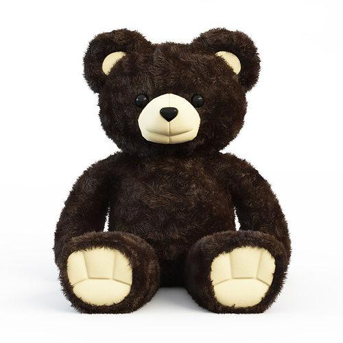brown bear  3d model max 1