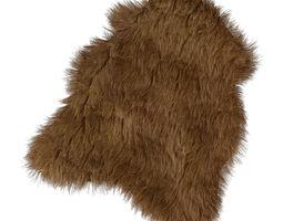 The mat of artificial fur 3D