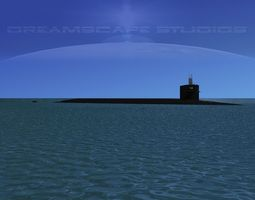 rigged 3d ohio class uss maryland ssbn-738