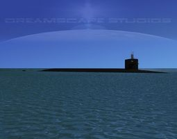 3d rigged ohio class uss west virginia ssbn-736