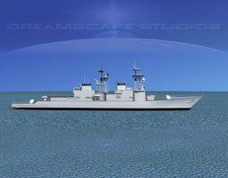 Spruance Class DD966 USS Hewitt 3D model