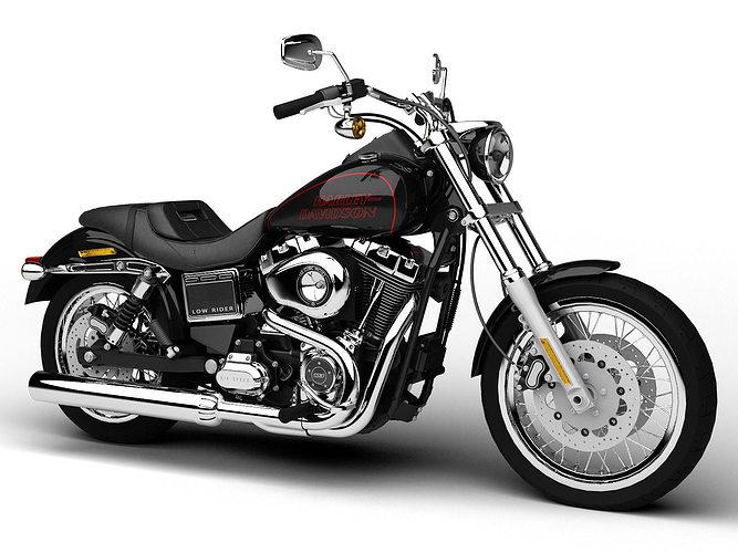 harley-davidson fxdl dyna low rider 2015 3d model max obj 3ds fbx c4d dxf 1
