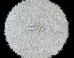 Round rug Flokati 3D model