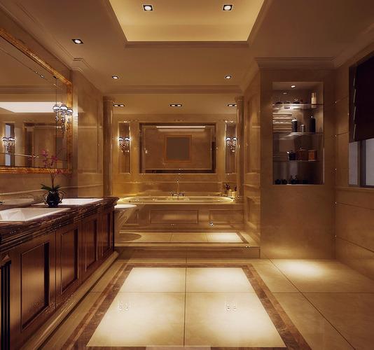 Exotic bathroom interior 3d cgtrader for Bathroom design 3d model