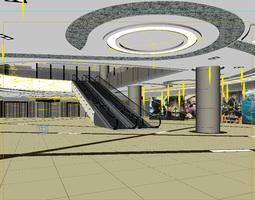088 mall interior 3d model