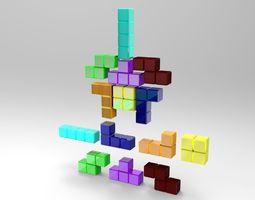 3d asset tetris blocks VR / AR ready