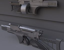 futuristic weapon concept high-poly-version 3d model