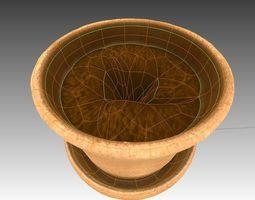 3D model Flower Pot full with soil