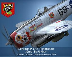 3D Republic P-47D Thunderbolt - Ski-U-Mah