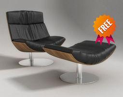 3d model kara armchair desiree