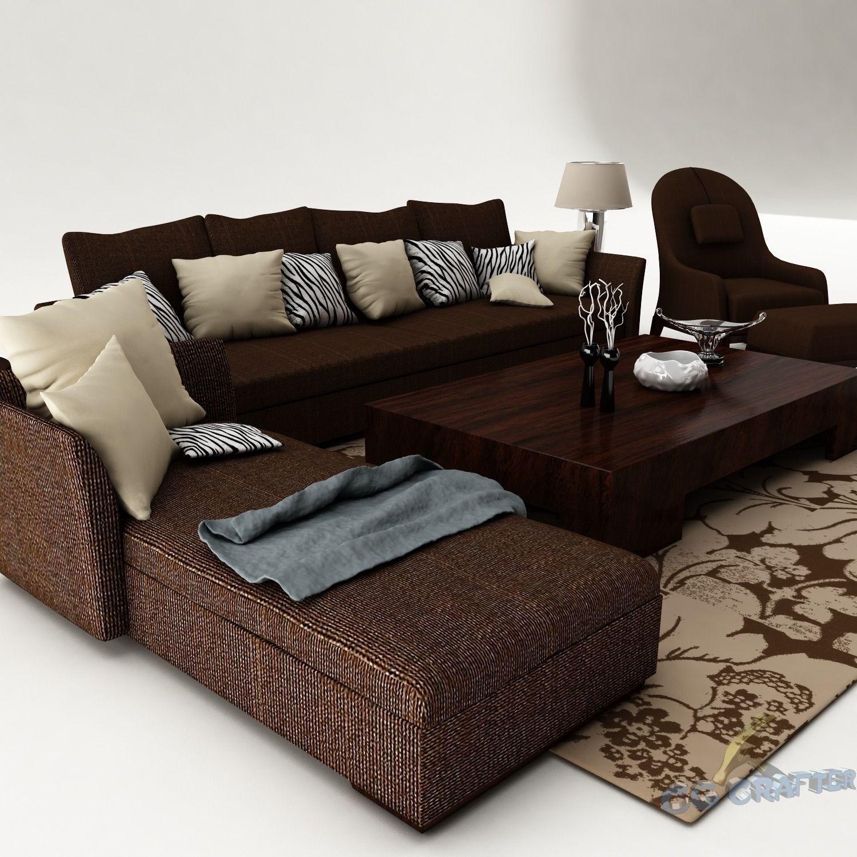 Sofa Set 3D model furniture