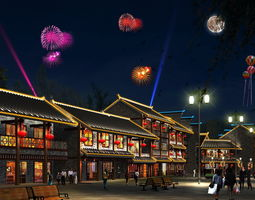 3D China street 001