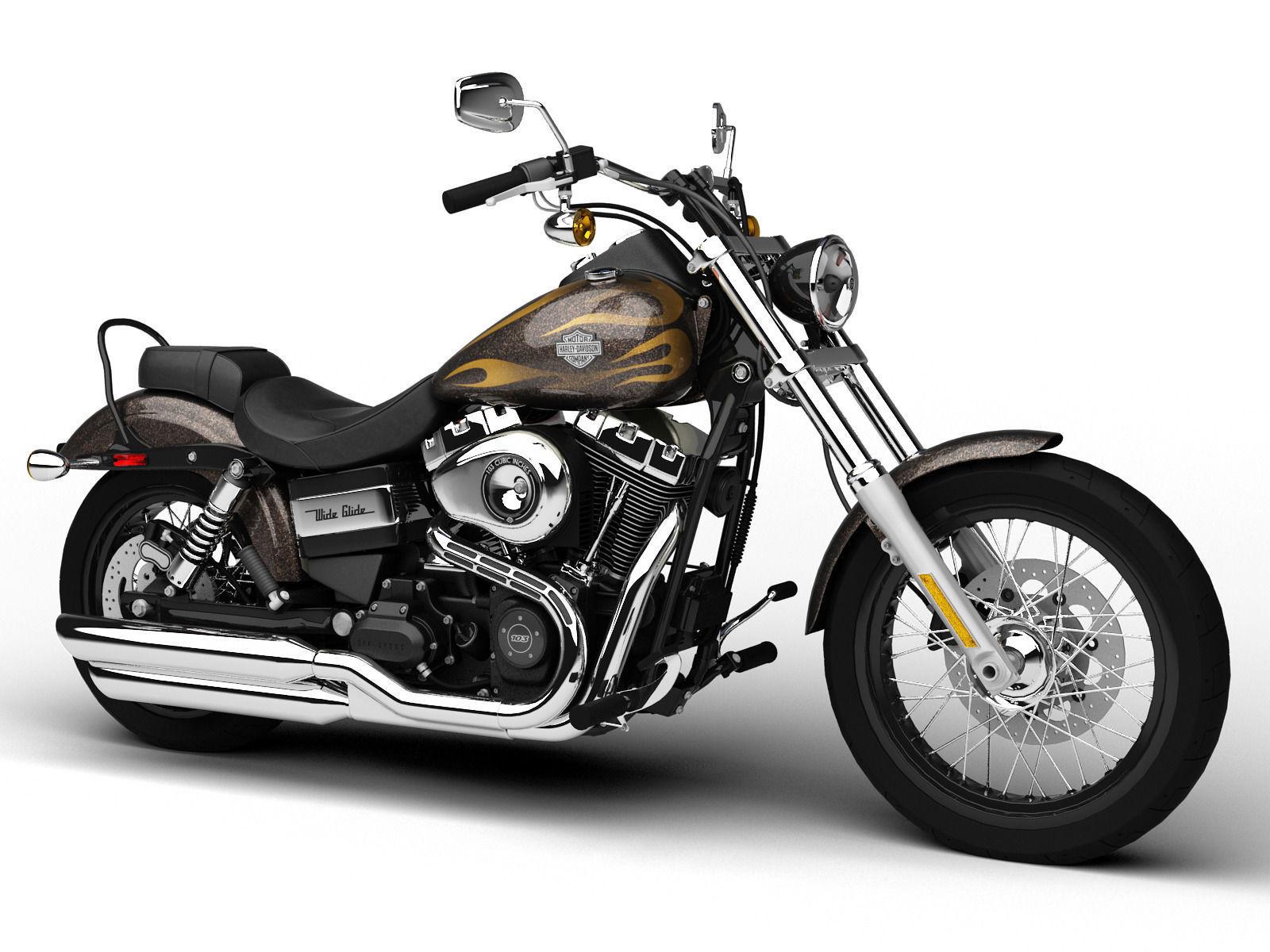 Harley-Davidson FXDWG Dyna Wide Glide 2015 3D model MAX OBJ 3DS FBX ...