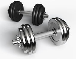 3D Dumbbell weights