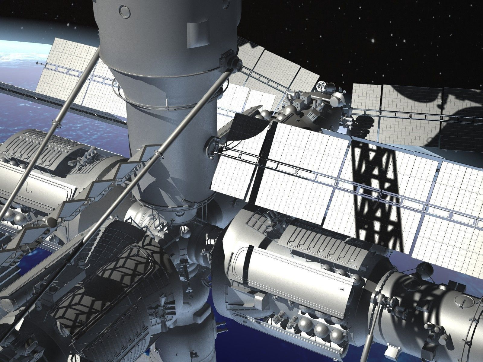 Mir space station complex 3d model max obj 3ds fbx c4d lwo for Space station 13 3d