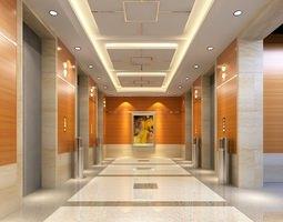 3d model elevator building lobby 0117-mall