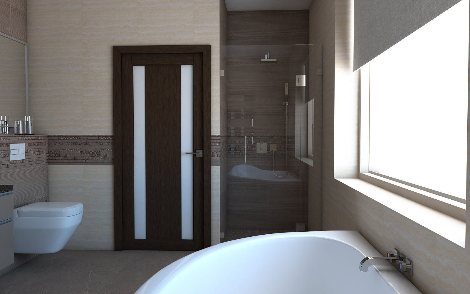 Bathroom 3D Model 3D Model Bath Architectural Bathroom  Cgtrader