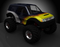 monster truck 3d model 3ds lwo lw lws ma mb