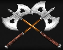 3D asset Battle Axe