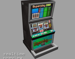 3D model Slot Machine - Low Poly 2
