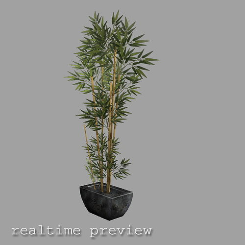 bamboo plant in pot low poly 3d model low-poly max obj mtl fbx lwo lw lws ma mb blend 1