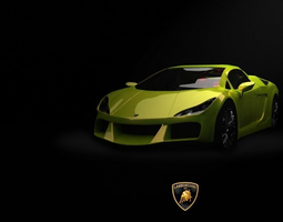 3D model Lamborghini LP570 Sports Car