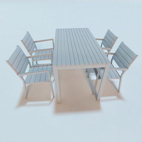 falster garden furniture 3d model obj mtl 3ds fbx c4d 1