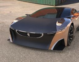 3D model Peugeot onyx