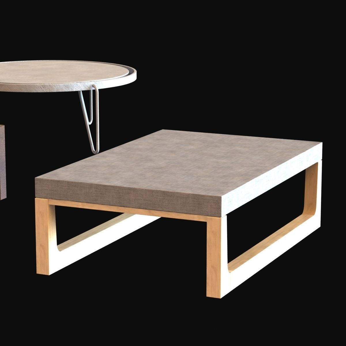 Tables collection 2 3d model max obj 3ds fbx for Table 3d model