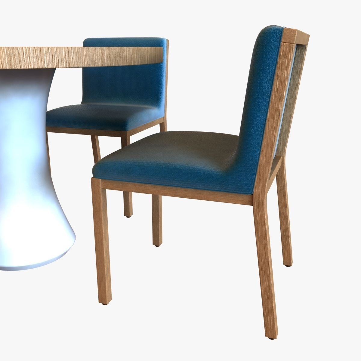 Table Chair And Ceiling Fan 3d Model Max Obj 3ds Fbx