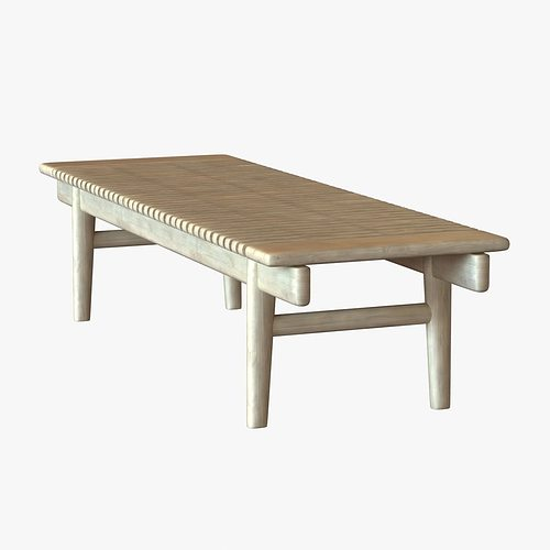 kayak bench by hans wegner 3d model max obj 3ds fbx mtl unitypackage 1