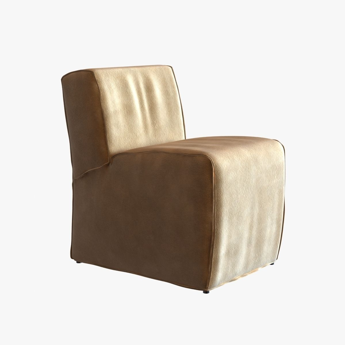 Soft Suede Armless Chair 3d Model Max Obj 3ds Fbx Mtl Unitypackage 1 ...