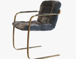 3D Cantilever Lounge Chair Solid Brass