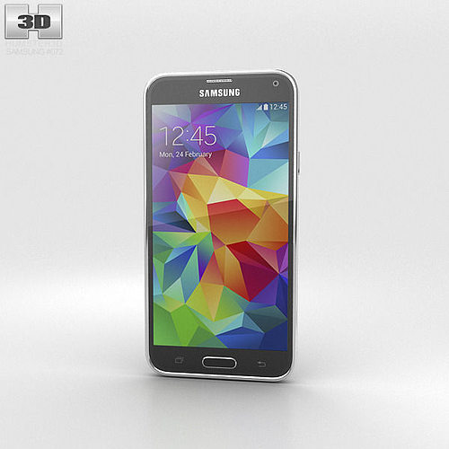 samsung galaxy s5 black 3d model max obj 3ds fbx c4d lwo lw lws 1