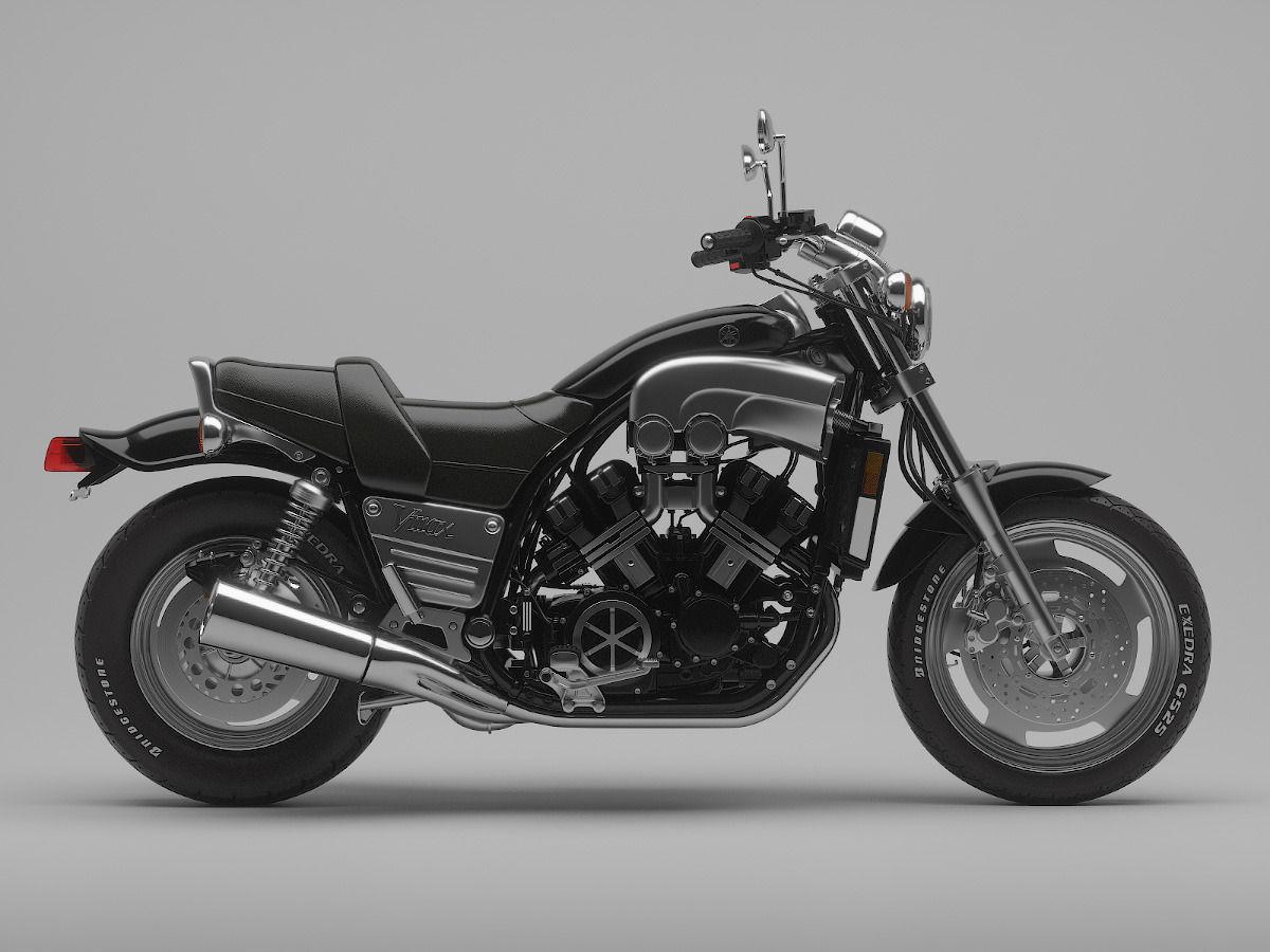 classic motorcycle yamaha v max 1200 3d model max obj. Black Bedroom Furniture Sets. Home Design Ideas