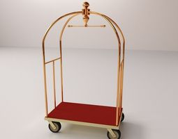 hotel luggage cart 3d model 3ds fbx blend dae