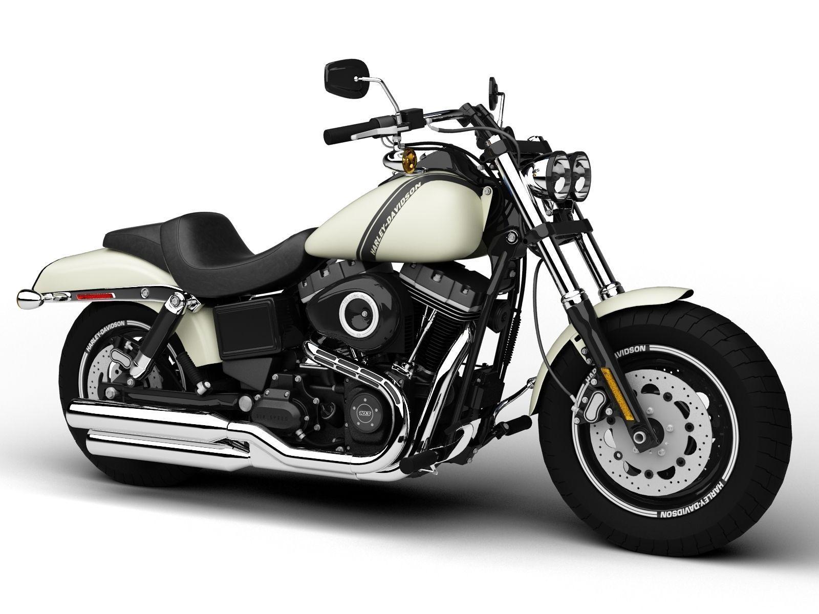Harley Davidson Fxdf Dyna Fat Bob D Model Max Obj Ds Fbx C D Dxf on Harley Davidson Parts Identification