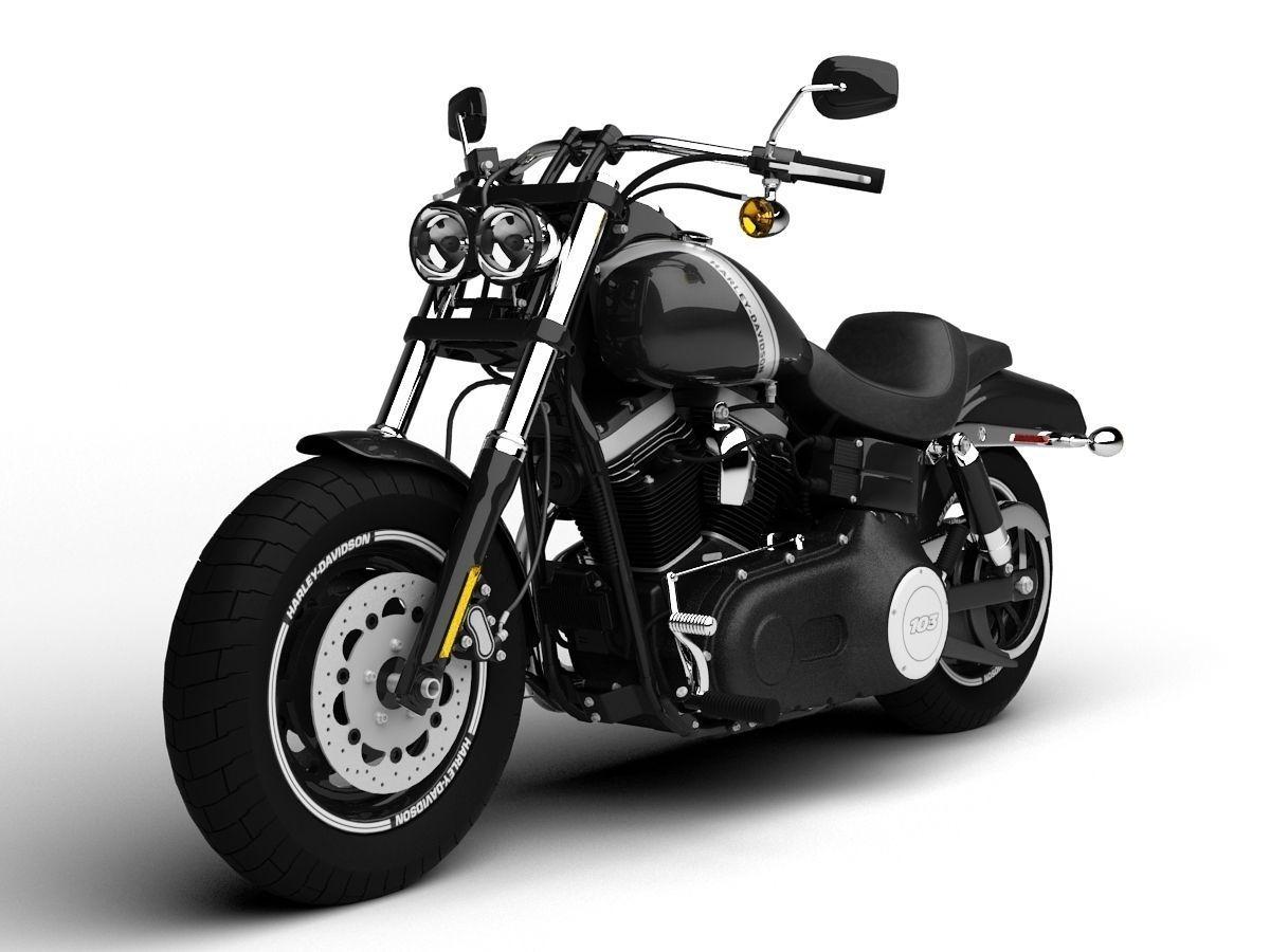 Harley-Davidson FXDF Dyna Fat Bob 2015 3D model | CGTrader