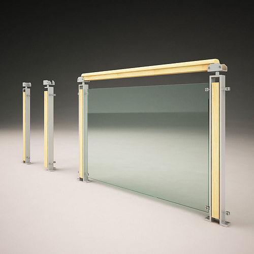 modern railings 3d model max fbx 1