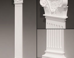 Pilaster antique type 4 3D