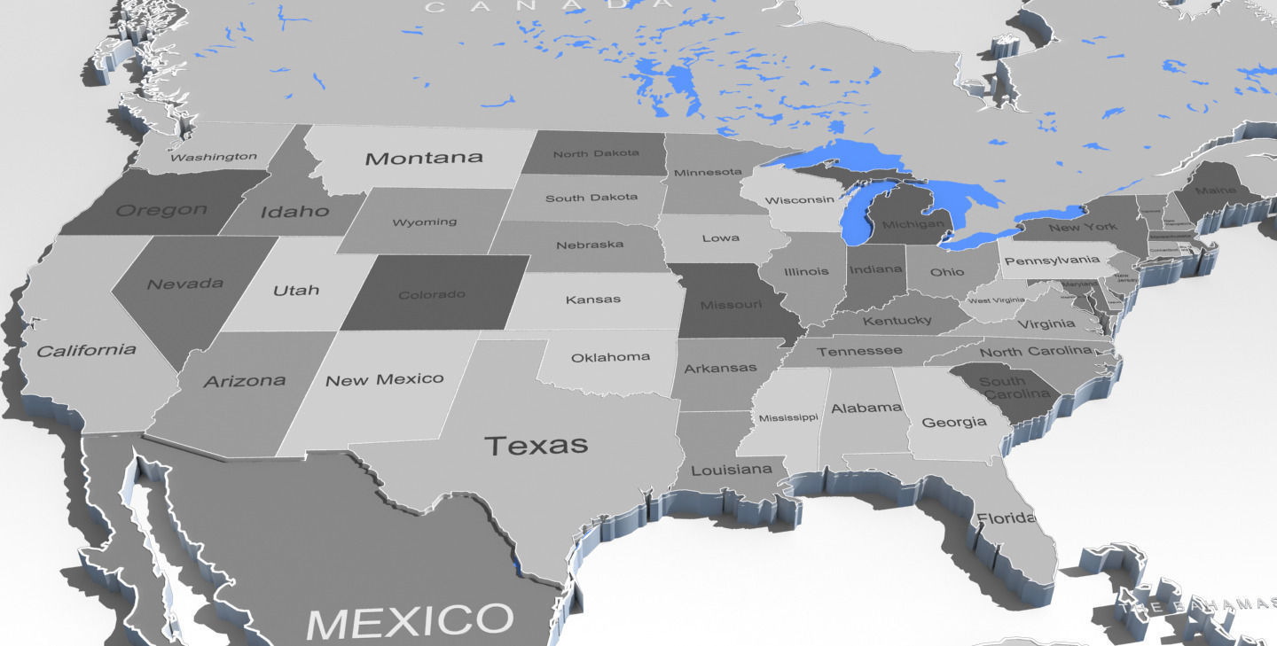 3d world map and usa map cgtrader 3d world map and usa map 3d model max obj fbx mtl 3 gumiabroncs Image collections