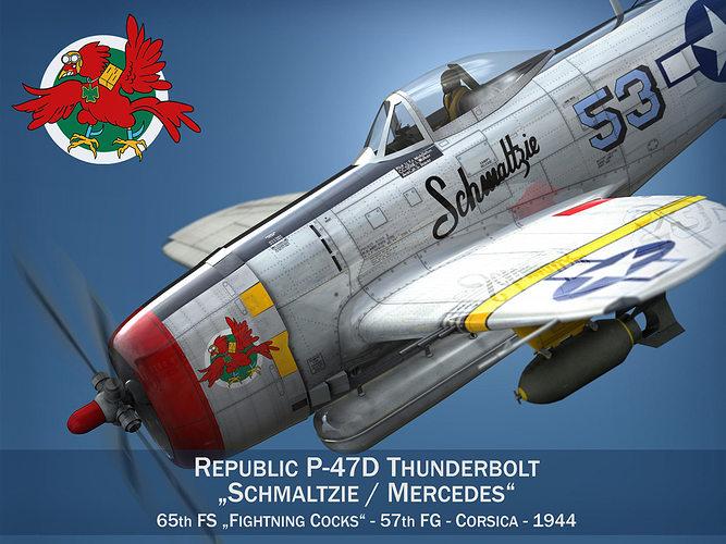 Republic P-47D Thunderbolt - Schmaltzie