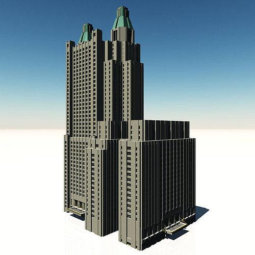 waldorf astoria hotel 3d model obj mtl fbx dae pdf 1