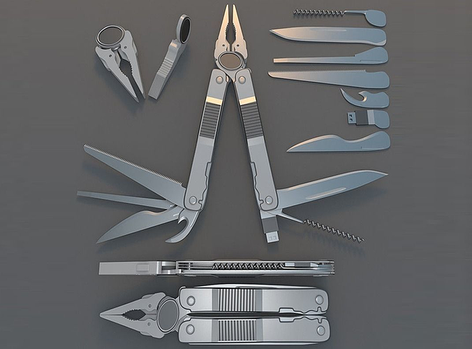 Multi Tool Rigged Free 3d Model Animated Rigged Obj 3ds